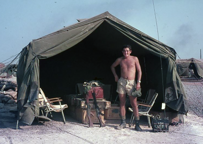 Peter Beath, Airframe Fitter, during a Bien Hoa attachment in 1968. Peter was with No. 9 SQN RAAF SVN from 2 April 1968 to 26 March 1969.